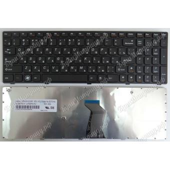Клавиатура Lenovo B570 B575 B590 G570 V570 Y570 Z570 черная с рамкой