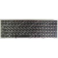 Клавиатура Lenovo B570 B575 B590 G570 V570 Y570 Z570 черная с пурпуровой рамкой