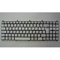 Клавиатура DNS Clevo C4500 C5500 W760C W765S MP-08J46SU-430 белая без рамки большой Enter