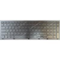Клавиатура Dell 13-3737 17-7000 17-7737 серебристая с подсветкой