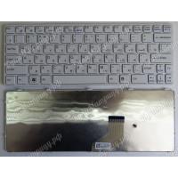 Клавиатура Sony SVE11 SVE111 E11 белая с белой рамкой
