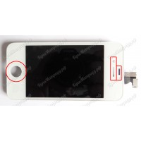 Дисплей iPhone 4S + тачскрин белый с рамкой ориг