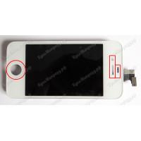 Дисплей iPhone 4 + тачскрин белый с рамкой ориг