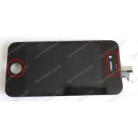 Дисплей iPhone 4S + тачскрин черный с рамкой ориг