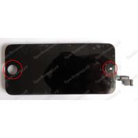 Дисплей iPhone 5S + тачскрин черный с рамкой ориг