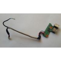 Плата USB разъем питания HP DV6000 DDAT8APB3001108 с разбора