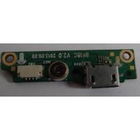 Плата micro usb разъема CQC09001034217 с разбора без микрофона