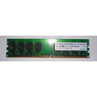 Оперативная память для компьютера DDR2 1GB Apacer PC2-5300 CL5
