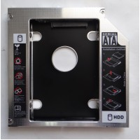 Адаптер оптибей 13 mm optibay hdd caddy SATA/miniSATA SlimSATA для подключения HDD/SSD 2,5""