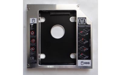 "Адаптер оптибей 13 mm optibay hdd caddy SATA/miniSATA SlimSATA для подключения HDD/SSD 2,5"""