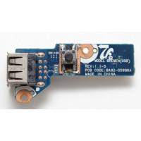 Плата USB кнопка включения Samsung NP-R540 NP-R580H с разбора