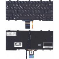 Клавиатура Dell  E5250 E7250 черная с подсветкой без рамки