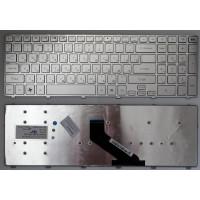 Клавиатура Gateway NV55 NV57 Packard Bell LS11 LS13 TS13 серебристая с рамкой