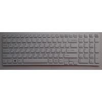 Клавиатура Sony SVE1511 белая с рамкой плоский Enter
