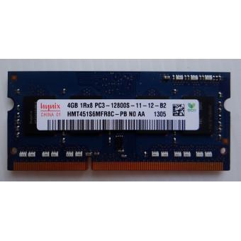 Оперативная память для ноутбука DDR3 4GB Hynix 1Rx8 PC3-12800S-11-12-B2