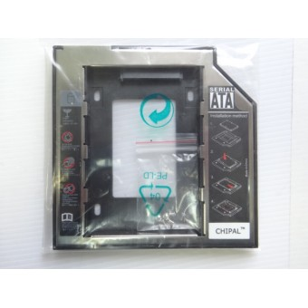 "Адаптер оптибей 9,5 mm optibay hdd caddy SATA/miniSATA SlimSATA для подключения HDD/SSD 2,5"""