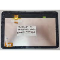 Дисплей Prestigio PMP5101C_QUAD + тачскрин черный с рамкой + шлейф дисплея с разбора