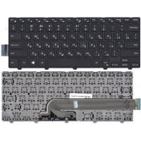 Клавиатура Dell 14-3000 14-5447 черная с чёрной рамкой