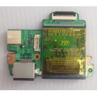 Плата кнопка включения LAN Cardreader MSI U210 с разбора