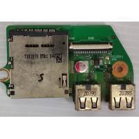 Плата USB Toshiba Satellite L655-19R с разбора
