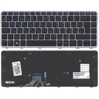 Клавиатура HP 1011 1012 1020 G1 Elitebook X2 черная с рамкой с подсветкой