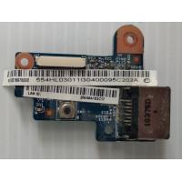 Плата сетевого разъема Acer 3820T-373G32iks с разбора