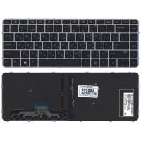 Клавиатура HP 1040 G3 черная с серебрянной рамкой с подсветкой
