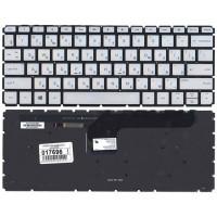 Клавиатура HP 13-D010CA 13-D010NR 13-D023CL 13-D040WM 13-D 13-ab001ur серебряная с подсветкой